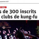 Article républicain lorrain 12 septembre 2021 Ecole Wuxing Kung-Fu