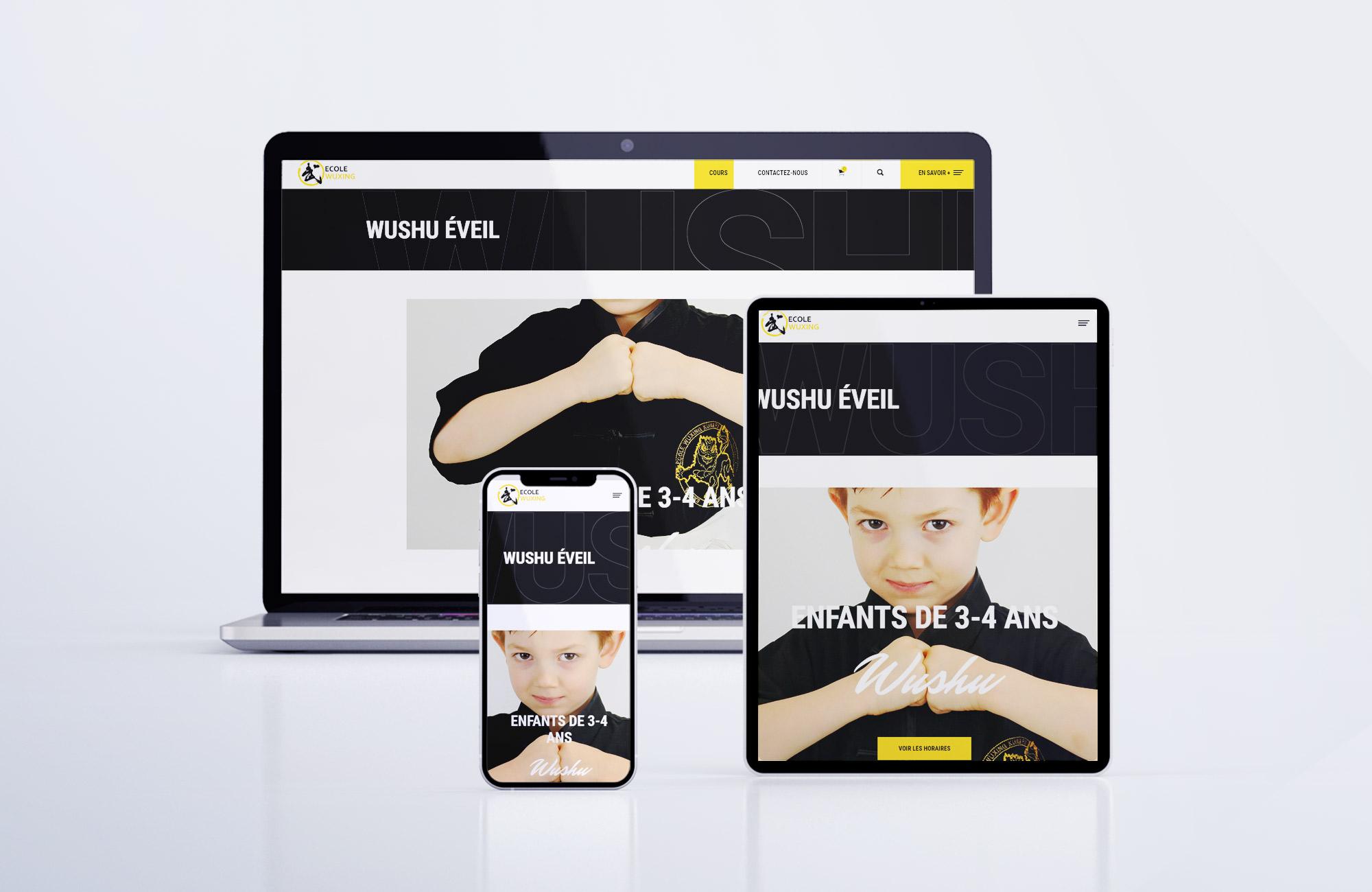 Nouveau site ecole wuxing multi device responsive