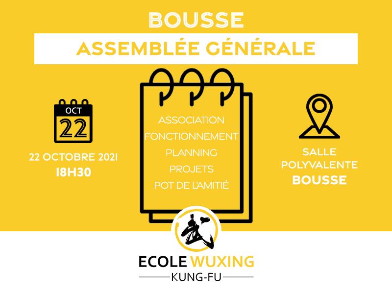 Bousse Assemblée Générale 22 octobre 2021 Ecole Wuxing Kung-Fu