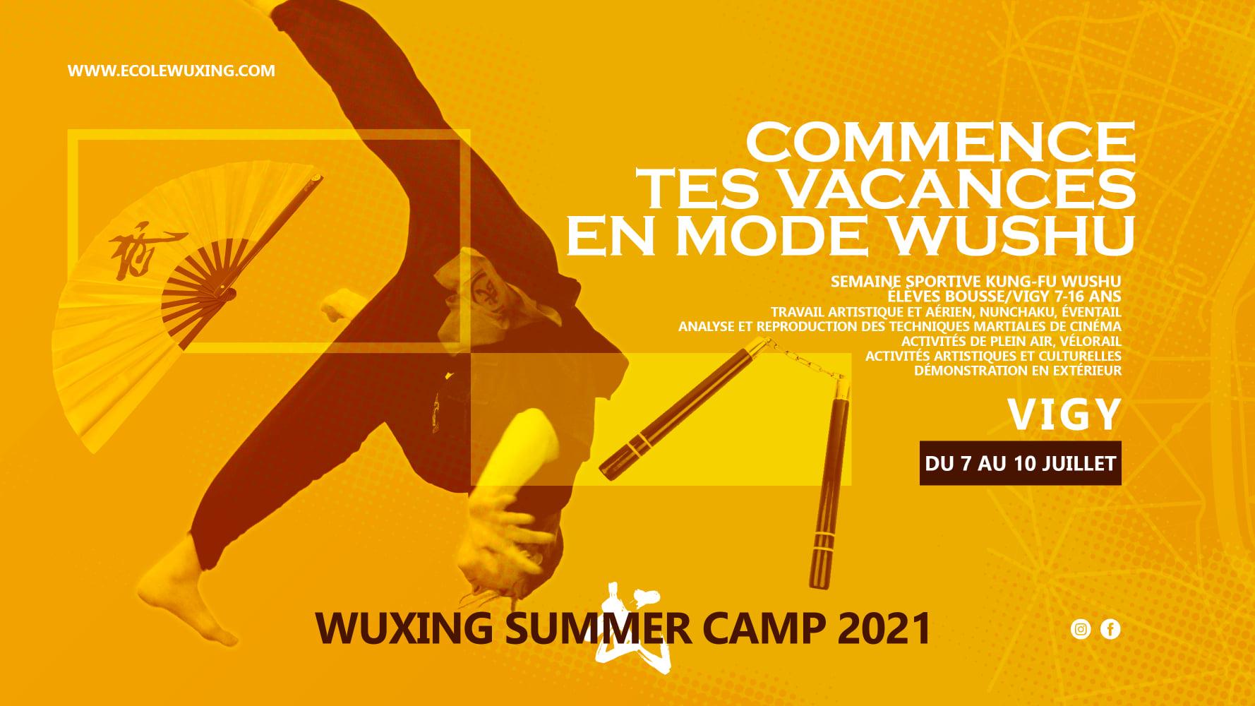 summer camp wushu bousse vigy ecole wuxing été 2021